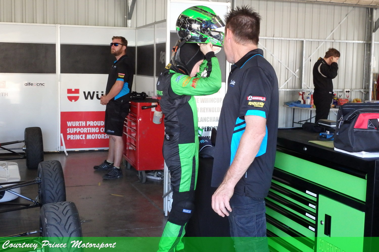 Workshop time. National Series - Round 1, Winton 9-11th March 2018. Courtney Prince Motorsport.