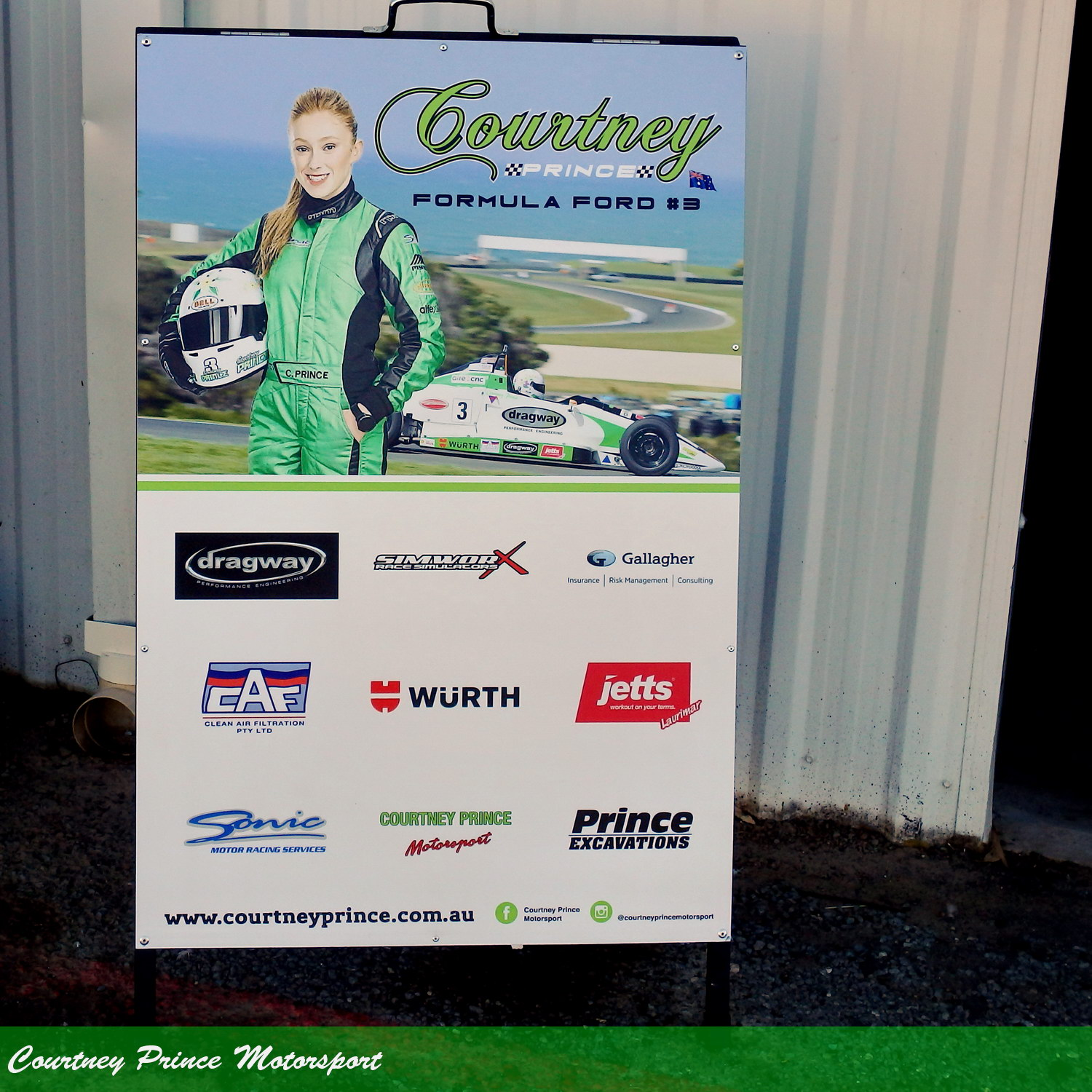 Courtney's sponsors. National Series - Round 1, Winton 9-11th March 2018. Courtney Prince Motorsport.