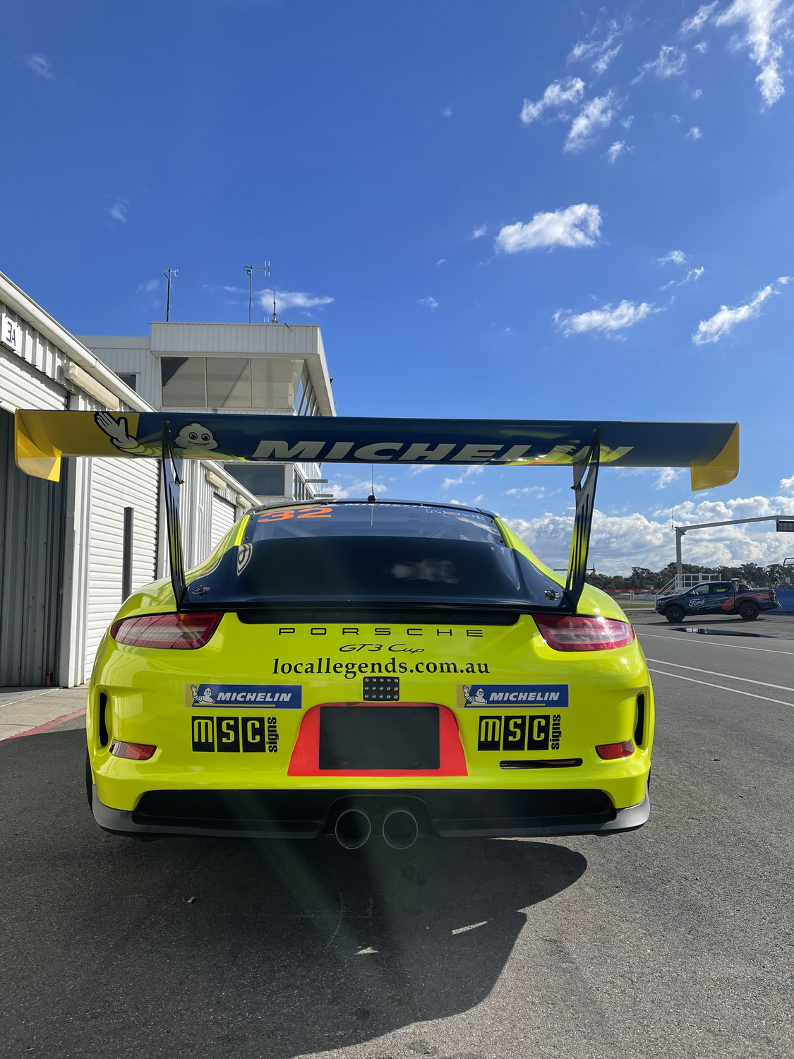 Test run with the Porsche GT3 at Winton. Courtney Prince Motor Sport, 2021.
