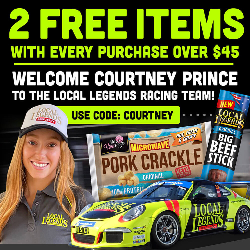 Special offer from Local Legends Meat Snacks for Courtney Prince fans.